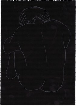 order nr. 1107 / 25,00 x 35,00 cm / white crayon on black paper