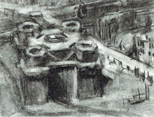 order nr. az15156 / 00,45 x 19,00 cm / charcoal on paper