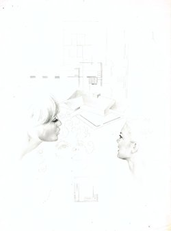 order nr. 1087 / 22,50 x 30,50 cm / pencil on transparent paper